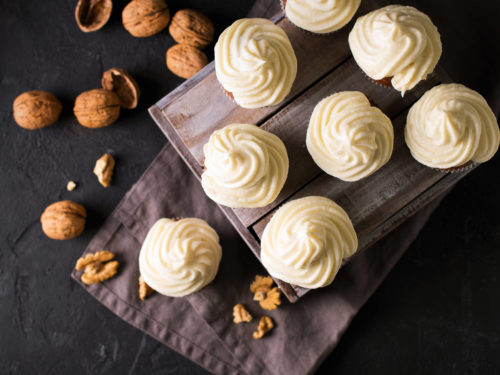 CBD Carrot Cupcakes with Frosting